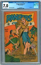 Rangers Comics #27 CGC 7.0 (2/1946, Fiction House) Joe Doolin Bondage Cover