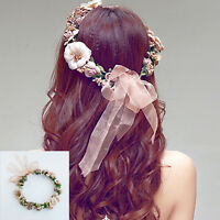 New Floral Flower Party Wedding Crown Hair Wreaths Headband Hair Band Garland UK