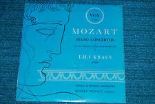 LILI KRAUS Pianist Mozart Piano Concertos VOX PL 6890 BLACK LABEL LP