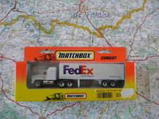 MACK CH 600 Semi Container Fed Ex Ancien Matchbox  en Boite