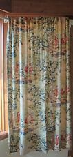 2 Covington Bosporus Antique Red Scalloped Window Curtain Panels French Country