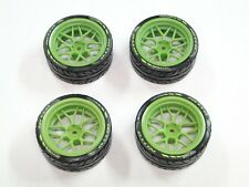 NEW HPI RS4 SPORT 3 Wheels & Tires GREEN Mustang HARD DRIFT HH13V