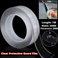 Universal Car Door Edge Paint Protective Guard Film Anti-Scratch Strip 1Mx2CM