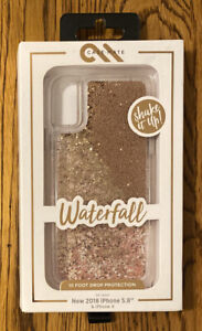 Case-Mate Apple iPhone X/XS Waterfall Case - Gold Free Shipping!