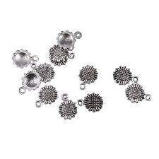 sunflower Tibetan Silver Bead charms pendant DIY Jewelry 20pcs 12*9mm