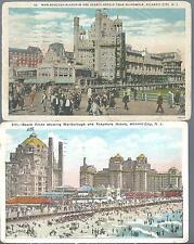1926 Lot of 2 Hotels from Boardwalk Atlantic City New Jersey Postcard NJ