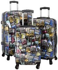 Hartschalen Koffer Trolley Reise Einzeln und Set Motiv PM Tourist Attractions