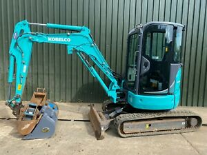 """KOBELCO SK28SR-6 MINI DIGGER EXCAVATOR """"AIR CON CAB"""", YEAR 2016, ONLY 2102 HOURS"""