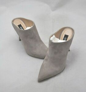 Sergio Rossi Women's Backless Suede Closed-Toe Pump Size 6.5