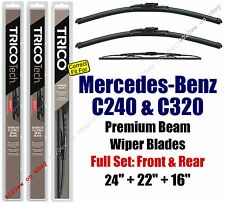 Wipers 3pk Front Rear fit 2001-2003 Mercedes-Benz C240 C320 19240/220/30160
