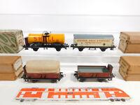 CO855-0,5# 4x Trix Express H0/DC/3L Blech-Güterwagen: 20/78 Shell etc, 2. Wahl