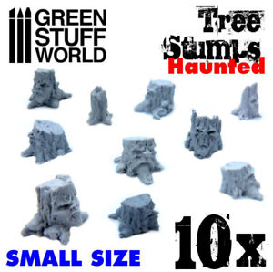Small Haunted Tree Stumps - Resin Dioramas Modelling Wargames Forests Miniature