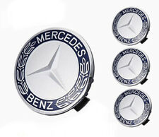 Mercedes Benz Wheel Centre Hub Caps 75mm/3 Inch 4 Piece Navy Blue