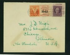 1Cuba 1942 Uncensored Cover Havana to Chicago franked Scott 305B, Ra5, Ra7