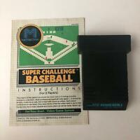 SUPER CHALLENGE BASEBALL M Network Atari 2600 Original Game Cartridge and Manual