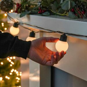 4.5m Battery Power Christmas LED Frosted Festoon String Lights Outdoor Timer