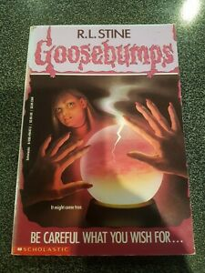 GOOSEBUMPS -Be careful what you wish for #12 - 13th printing paperback book RARE