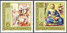 Austria 1987 Artists/Art/Paintings/Painters/Madonna/Child/Nude 2v set (n44357)