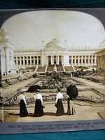 Sunken Garden & Government Bldg 1904 St.Louis World's Fair - antique stereoview