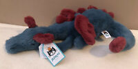 NEW Jellycat Little Dexter Dragon Soother Soft Toy Baby Comforter Red Blue BNWT