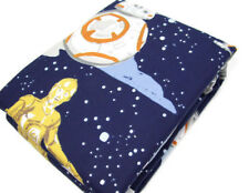 Pottery Barn Kids Star Wars Droid Scenic C3PO R2D2 Flannel Twin Duvet Cover New