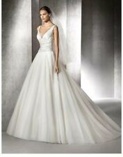 Wedding dress.blush/white San Patrick size 14 princess dress,satin layered&tulle