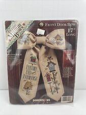 Vintage Dimensions Debbie Mumm Garden Birdhouse Door Bow Cross Stitch NEW