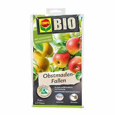 COMPO BIO Obstmaden-Fallen 2 Stück Apfelwickler Apfelbaum Leimfalle Klebefalle
