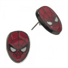 Spiderman Spider Man Head Enamel Earrings Marvel NEW