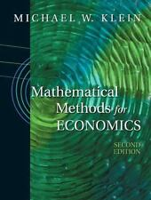 Mathematical Methods for Economics by Michael W. Klein (2001, Hardcover,...