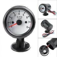 "Hot 2"" 52mm Car Auto LED Blue Pointer Tach Tachometer Gauge Meter 0-8000RPM 12V"