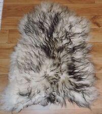 AUTHENTIQUE Premium fourrure de mouton d'Islande peau mouton,d'AGNEAU foncé