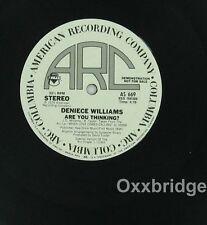 "DENIECE WILLIAMS I Found Love Are You Thinking PROMO ARC Soul Funk 12"" Single"