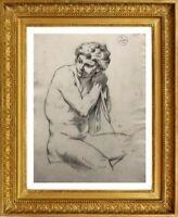 LE MULHOUSIEN EMILE ZIPELIUS (1840-1865) NU MASCULIN ACADEMIE vers 1860 (33)