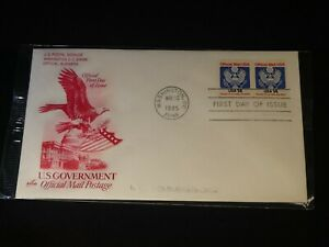 Scott's #O129A 14c Eagle (1985) FDC with Red Eagle ArtCraft Cachet