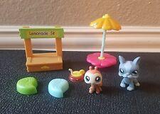 Littlest Pet Shop LPS Lemonade Stand Lot #856 Ladybug #857 Boston Terrier Dog