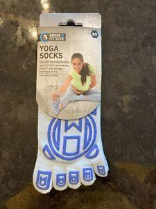 Yoga Socks Non Slip Blue New