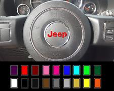 2011-2017 JEEP Wrangler Steering Wheel Overlay Decal Rubicon JK