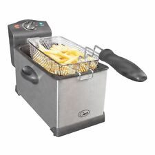 Professional Deep Fat Fryer 3 Litre Chip Pan Basket Fry Stainless Steel 2000W