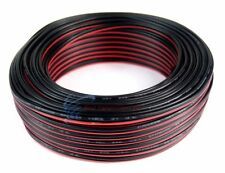 22 GA Gauge 100' FT Speaker Wire Red Black Zip Cord Cable Copper Mix Stranded
