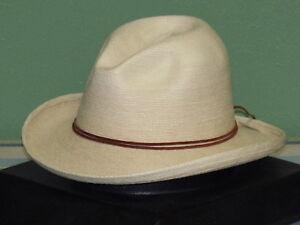 SUNBODY RB'S FINE PALM SLOPED FEDORA HAT