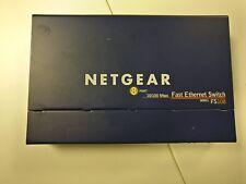 Netgear Prosafe FS108 v2 Fast Ethernet de 8 puertos de sobremesa conmutador C/W Adaptador