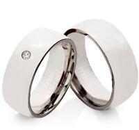Eheringe Trauringe mit echtem Diamant Verlobungsringe mit Lasergravur EDB15