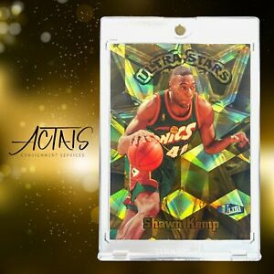 1997 Fleer Ultra ULTRA STARS GOLD SHAWN KEMP EXTREMELY RARE 90s PARALLEL CARD SP
