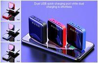 Mini Power Bank Dual USB Ports Fast Charger External Portable Battery 20000mAh