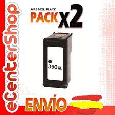 2 Cartuchos Tinta Negra / Negro HP 350XL Reman HP Photosmart C4200 Series