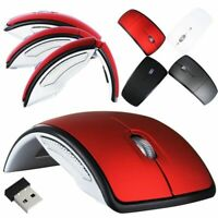 2.4GHz Optical Mouse Arc Touch Wireless Foldable Mice W/ USB Receiver For Laptop