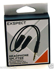 Exspect 3.5mm Headphone Splitter for iPhone, Android, Samsung, HTC NEW BOXED