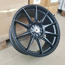 4x 18x8.75/9.75 5x100/114 et15/20 XXR Style Alloy Wheels Matt Black | NEW