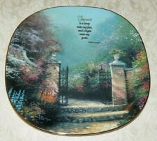 Thomas Kinkade Squared Hanging Plate Heaven On Earth Thy Word Is A Lamp
